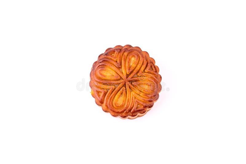 Ο λέκιθος αυγών mooncake στοκ εικόνα