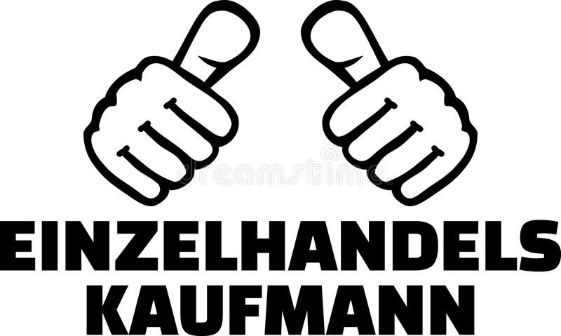 Ο λιανικός πωλητής φυλλομετρεί τα γερμανικά διανυσματική απεικόνιση