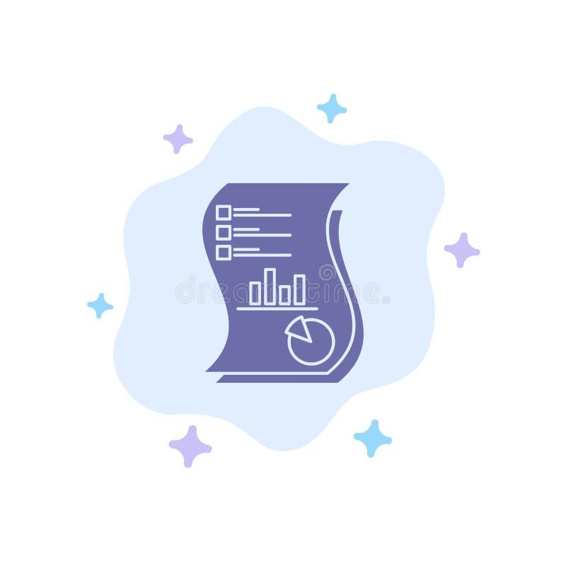 Ο λογιστικός έλεγχος, Analytics, επιχείρηση, στοιχεία, μάρκετινγκ, έγγραφο, εκθέτει το μπλε εικονίδιο στο αφηρημένο υπόβαθρο σύνν απεικόνιση αποθεμάτων