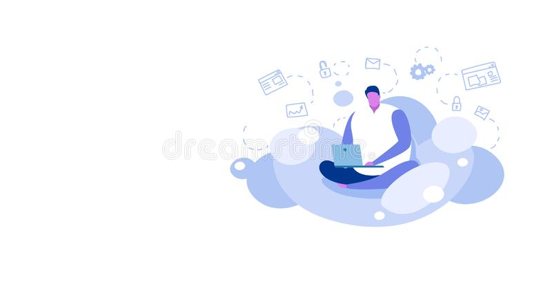 Ο λωτός συνεδρίασης ατόμων θέτει τη χρησιμοποίηση του τύπου lap-top που μεταφορτώνει το περιεχόμενο από το σε απευθείας σύνδεση υ ελεύθερη απεικόνιση δικαιώματος