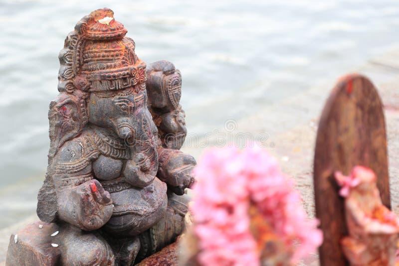 Ο Λόρδος Ganesha στο Riverside του Μπενγκαλούρου, Ινδία στοκ εικόνα με δικαίωμα ελεύθερης χρήσης