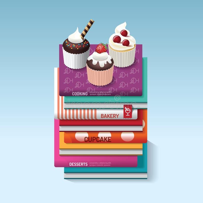 Ο μάγειρας τροφίμων κρατά το σχέδιο έννοιας ιδέας cupcake επίσης corel σύρετε το διάνυσμα απεικόνισης ελεύθερη απεικόνιση δικαιώματος