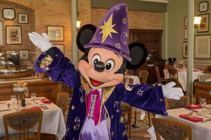 Ο μαγικός Mickey Mouse στοκ φωτογραφίες με δικαίωμα ελεύθερης χρήσης