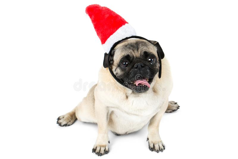 Ο μαλαγμένος πηλός βρίσκεται στο καπέλο Χριστουγέννων της νεράιδας η ανασκόπηση απομόνωσε το λευκό στοκ εικόνες