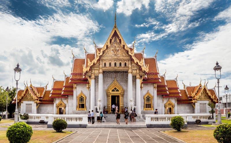 Ο μαρμάρινος ναός (Wat Benchamabophit), Μπανγκόκ, Ταϊλάνδη στοκ φωτογραφία