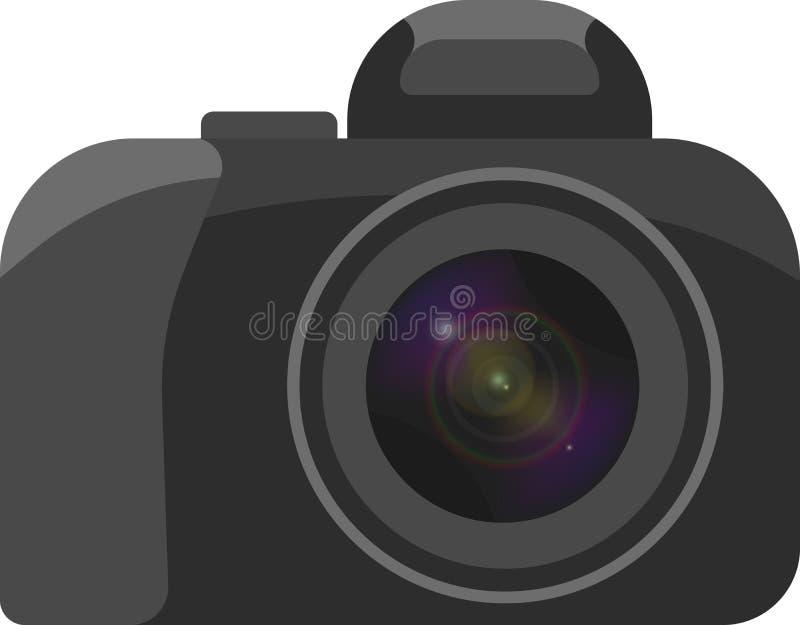 Ο Μαύρος εικόνας ράστερ μιας κάμερας με το φακό γυαλιού απεικόνιση αποθεμάτων