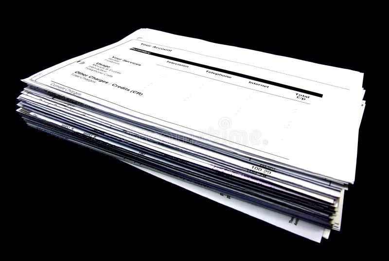 ο Μαύρος λογαριασμών ανα στοκ εικόνα με δικαίωμα ελεύθερης χρήσης