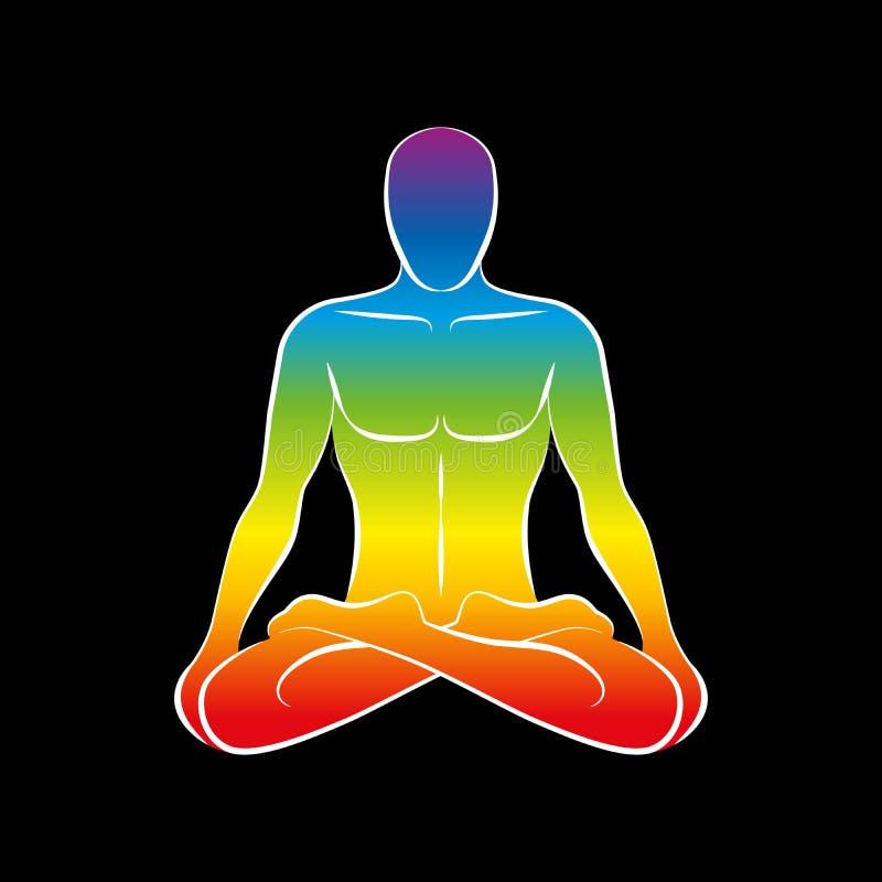 Ο Μαύρος ουράνιων τόξων ψυχής σώματος ατόμων απεικόνιση αποθεμάτων