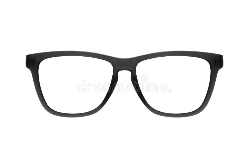 Ο Μαύρος πλαισίων γυαλιών ματιών που απομονώνεται στο άσπρο υπόβαθρο στοκ εικόνες
