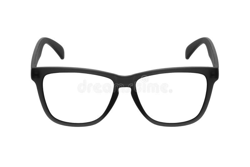 Ο Μαύρος πλαισίων γυαλιών ματιών που απομονώνεται στο άσπρο υπόβαθρο στοκ φωτογραφίες