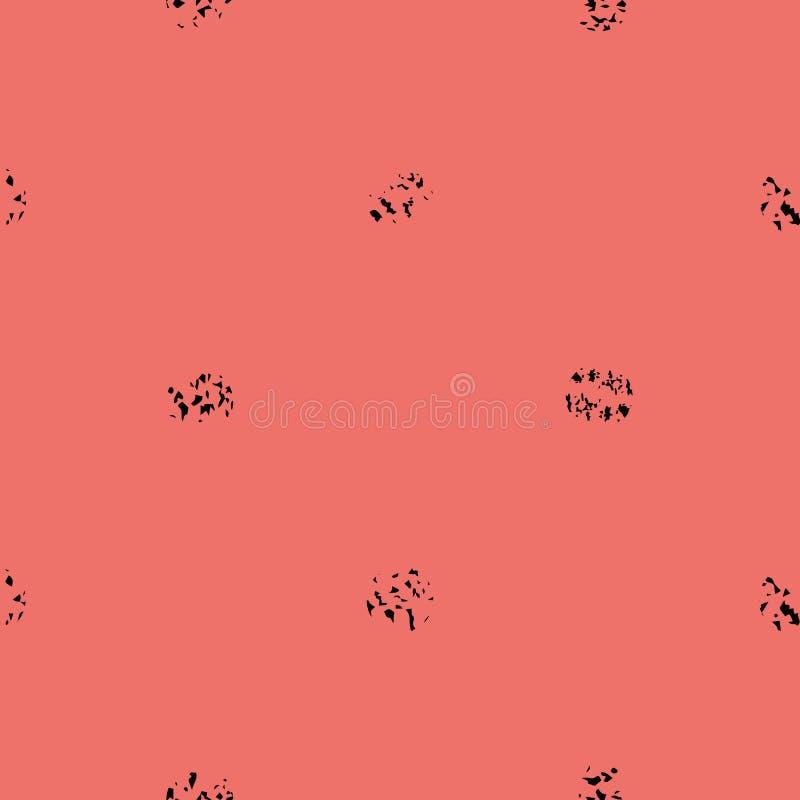 Ο Μαύρος ποικίλος grunge ζωγραφίζει με κουκίδες στο φωτεινό υπόβαθρο κορ ελεύθερη απεικόνιση δικαιώματος