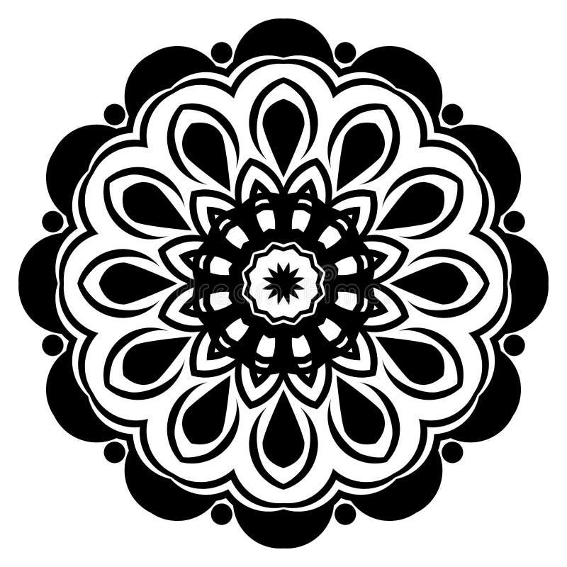 Ο Μαύρος σχεδίων Mandala ένα υπόβαθρο r Στοιχείο περισυλλογής για τη γιόγκα της Ινδίας Διακόσμηση για τη διακόσμηση Ασιάτης, GIF ελεύθερη απεικόνιση δικαιώματος