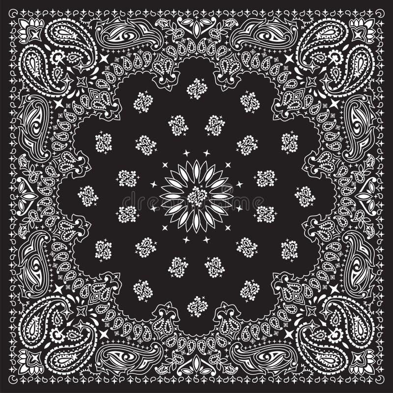 ο Μαύρος bandana διανυσματική απεικόνιση