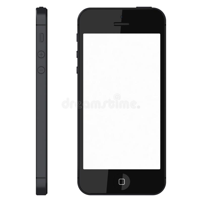 Ο Μαύρος IPhone 5s διανυσματική απεικόνιση