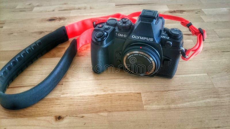 Ο Μαύρος Olympus omd em1 στοκ φωτογραφία με δικαίωμα ελεύθερης χρήσης