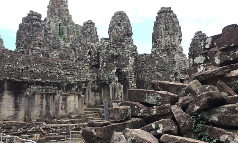 Ο μαύρος Stone του ναού Angkorwat στοκ εικόνα