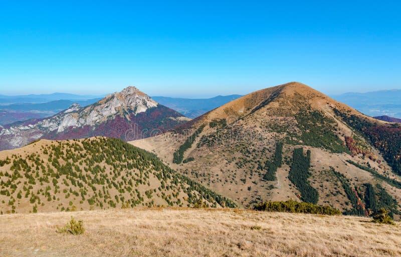 Ο μεγάλος λόφος Rozsutec στην κοιλάδα Vratna στο εθνικό πάρκο Mala Fatra στοκ εικόνα με δικαίωμα ελεύθερης χρήσης