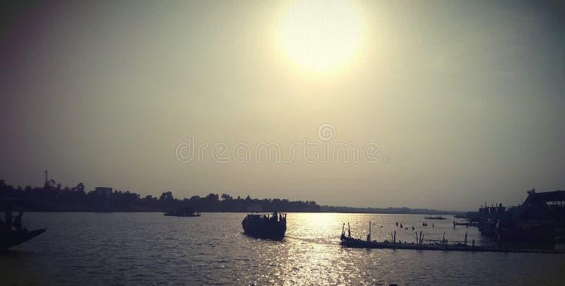 Ο μεγάλος ποταμός της Ινδίας Ganga στοκ φωτογραφία με δικαίωμα ελεύθερης χρήσης