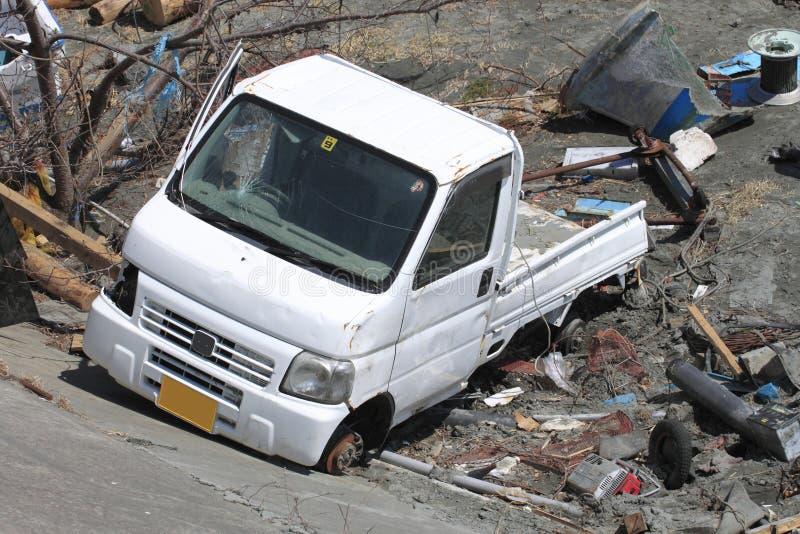 Ο μεγάλος σεισμός της ανατολικής Ιαπωνίας στοκ φωτογραφία με δικαίωμα ελεύθερης χρήσης