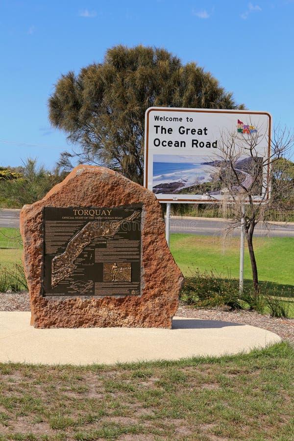 Ο μεγάλος ωκεάνιος δρόμος - Αυστραλία στοκ εικόνες με δικαίωμα ελεύθερης χρήσης