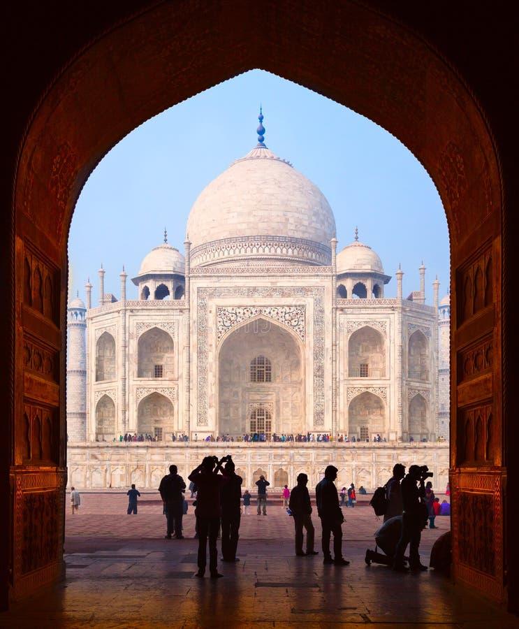 Ο μεγάλος Γκέιτς σε Taj Mahal στοκ εικόνα με δικαίωμα ελεύθερης χρήσης