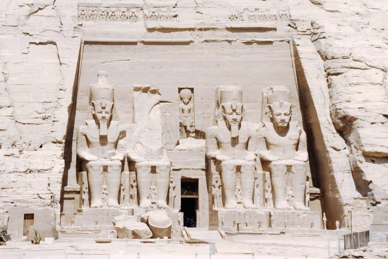Ο μεγάλος ναός Ramesses ΙΙ, Abu Simbel, Αίγυπτος στοκ φωτογραφία με δικαίωμα ελεύθερης χρήσης