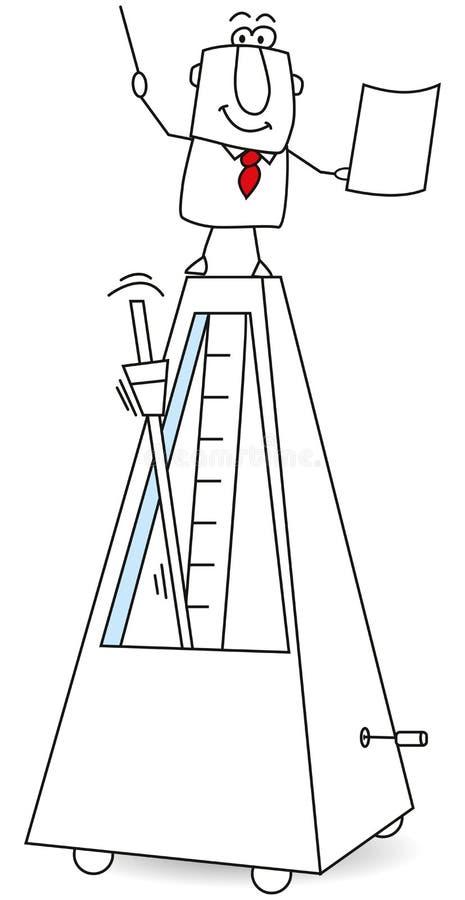 Ο μετρονόμος και το bandmaster απεικόνιση αποθεμάτων