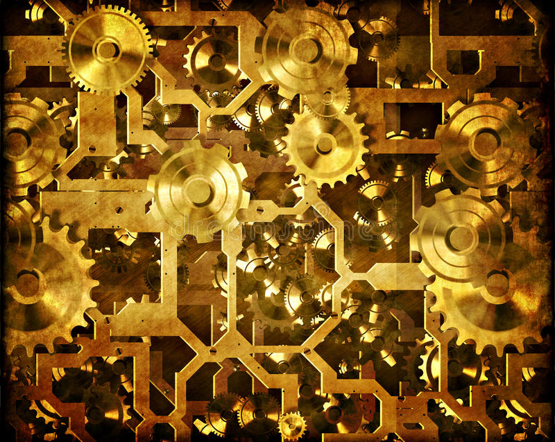ο μηχανισμός τα μηχανήματα steampunk ελεύθερη απεικόνιση δικαιώματος