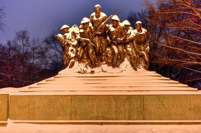 107ο μνημείο Ηνωμένου πεζικού - Νέα Υόρκη στοκ εικόνες