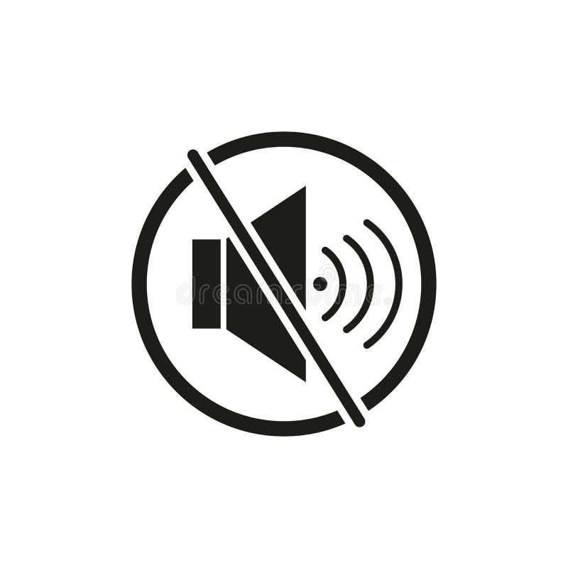 Ο μουγγός της στάσης εικονιδίων φωνής μιλά ελεύθερη απεικόνιση δικαιώματος