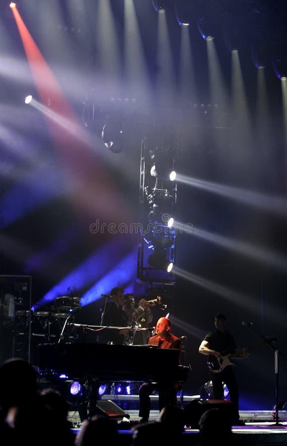 Ο Μπίλι Joel αποδίδει στη συναυλία στοκ φωτογραφία με δικαίωμα ελεύθερης χρήσης