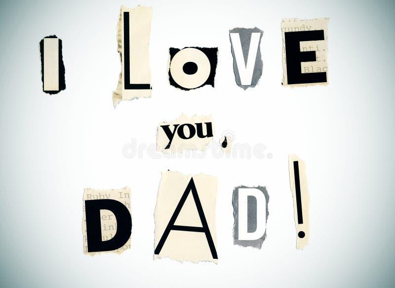 ο μπαμπάς ι σας αγαπά στοκ φωτογραφίες