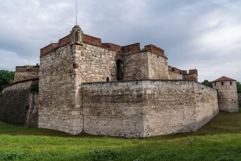 Ο μπαμπάς Vida είναι ένα μεσαιωνικό φρούριο σε Vidin στη βορειοδυτική Βουλγαρία και πόλης αρχικό ορόσημο στοκ εικόνα