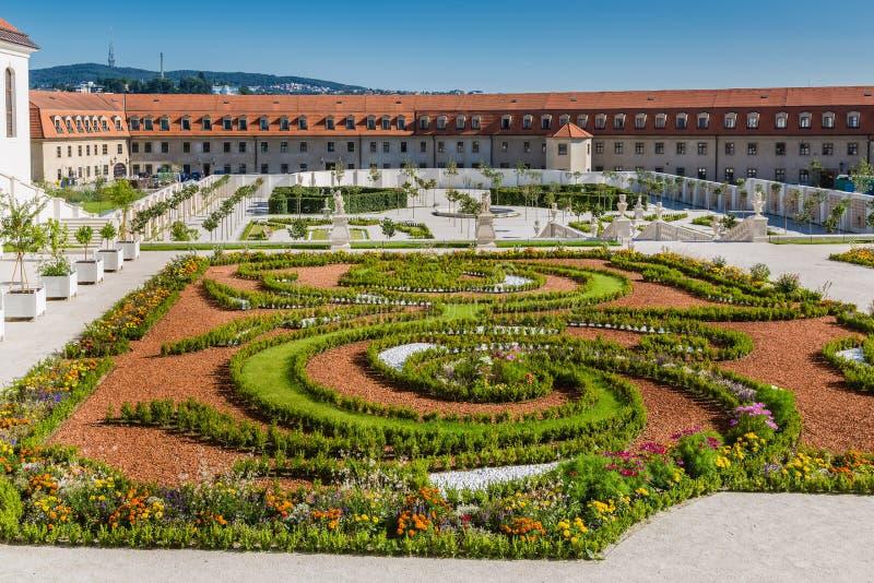 Ο μπαρόκ κήπος της Μπρατισλάβα Castle στοκ φωτογραφία