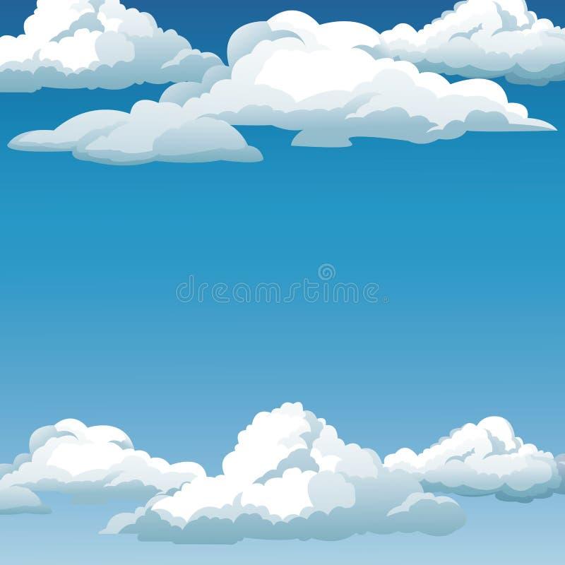 Ο μπλε ουρανός καλύπτει το σχέδιο υποβάθρου διανυσματική απεικόνιση