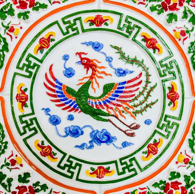 Ο μυθικός ζωικός, κινεζικός Phoenix στοκ εικόνες με δικαίωμα ελεύθερης χρήσης