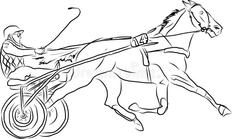 Ο νέος αναβάτης που εκτελεί το άλμα στο άλογο κόλπων πέρα από ένα εμπόδιο παρουσιάζει άλμα απεικόνιση αποθεμάτων