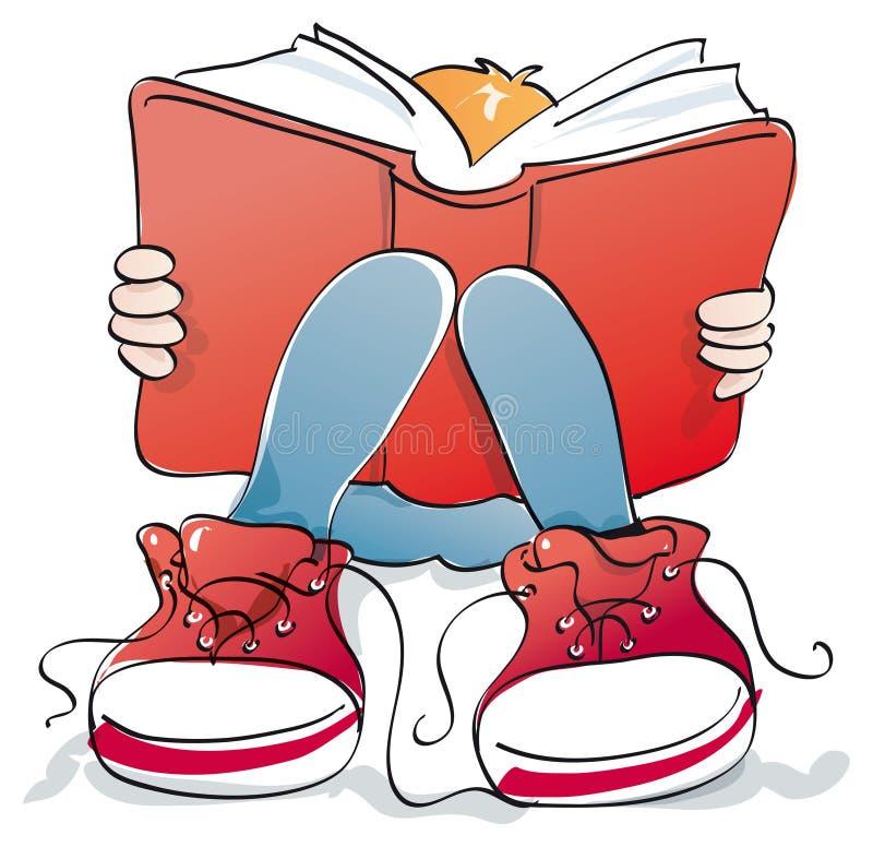 Ο νέος σπουδαστής διαβάζει ένα βιβλίο στοκ φωτογραφία με δικαίωμα ελεύθερης χρήσης