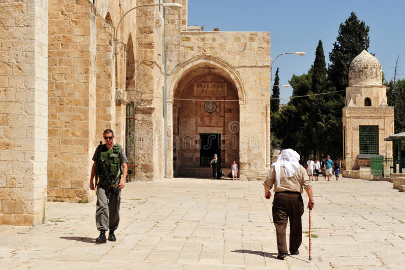 Ο ναός επικολλά και μουσουλμανικό τέμενος Al-Aqsa στην Ιερουσαλήμ Ισραήλ στοκ εικόνα με δικαίωμα ελεύθερης χρήσης