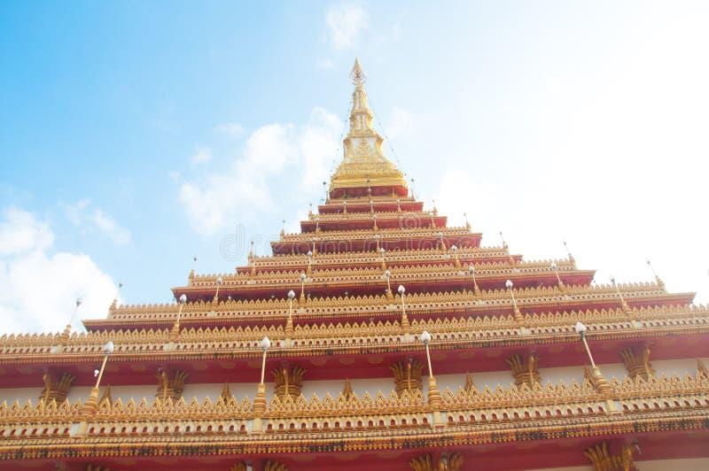 Download Ο ναός στην Ταϊλάνδη ονομάζεται Phra-Mahathat-Kaen Nakhon, Khon Kae Στοκ Εικόνες - εικόνα από ancientness, ναός: 62709588