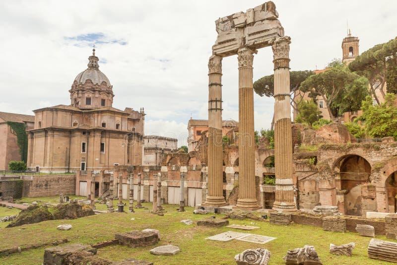 Ο ναός της Αφροδίτης Genetrix στο φόρουμ Romanum Ιταλία Ρώμη στοκ φωτογραφία με δικαίωμα ελεύθερης χρήσης