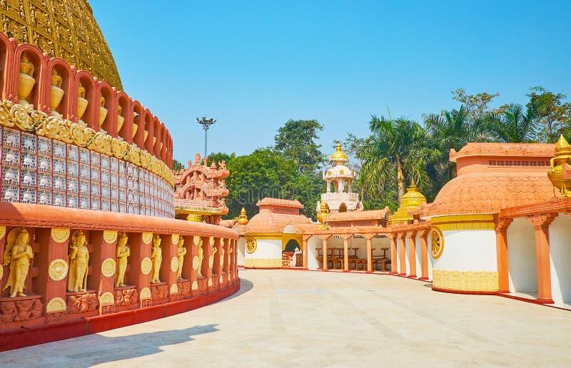 Ο ναός της διεθνούς βουδιστικής ακαδημίας Sitagu στοκ εικόνες με δικαίωμα ελεύθερης χρήσης