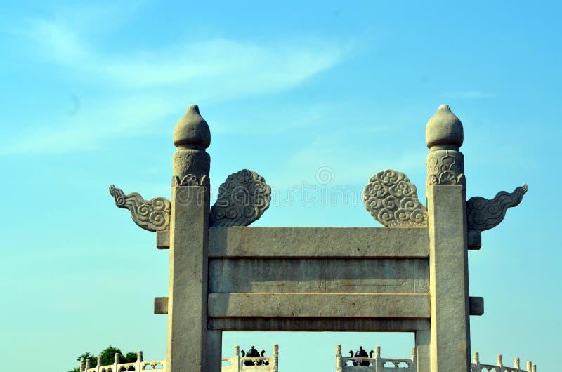 Ο ναός του ουρανού, είσοδος στον κυκλικό βωμό Yuanqiu στο Πεκίνο, Κίνα αυτό είναι το θρησκευτικό συγκρότημα όπου οι αυτοκράτορες  στοκ φωτογραφία