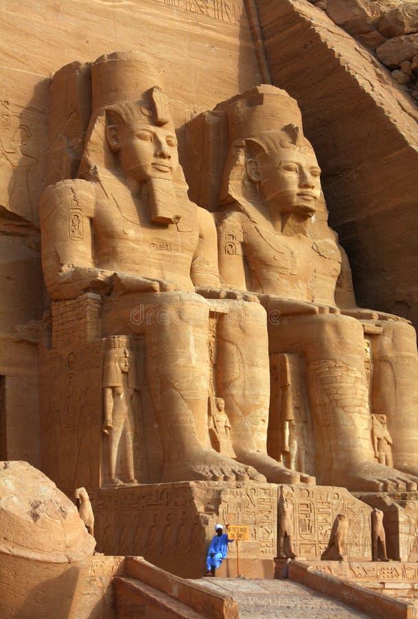 Ο ναός Abu Simbel στην Αίγυπτο στοκ φωτογραφίες