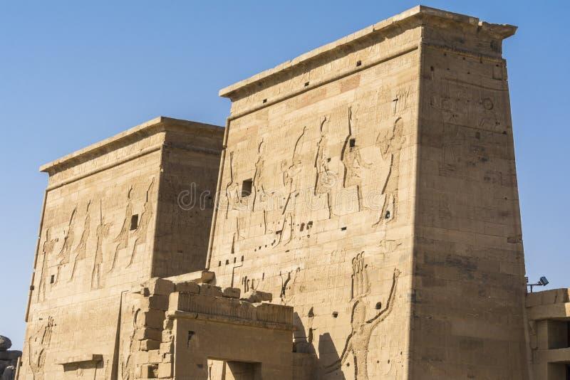 Ο ναός Isis από Philae, Aswan, Αίγυπτος στοκ εικόνες