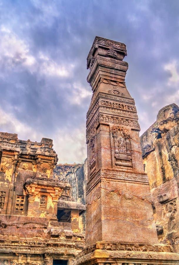Ο ναός Kailasa, ανασκάπτει 16 μέσα Ellora σύνθετο Περιοχή παγκόσμιων κληρονομιών της ΟΥΝΕΣΚΟ Maharashtra, Ινδία στοκ εικόνες