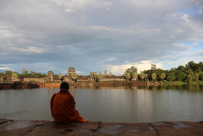 Ο ναός Wat Angkor, Ciem συγκεντρώνει, Καμπότζη στοκ φωτογραφία με δικαίωμα ελεύθερης χρήσης
