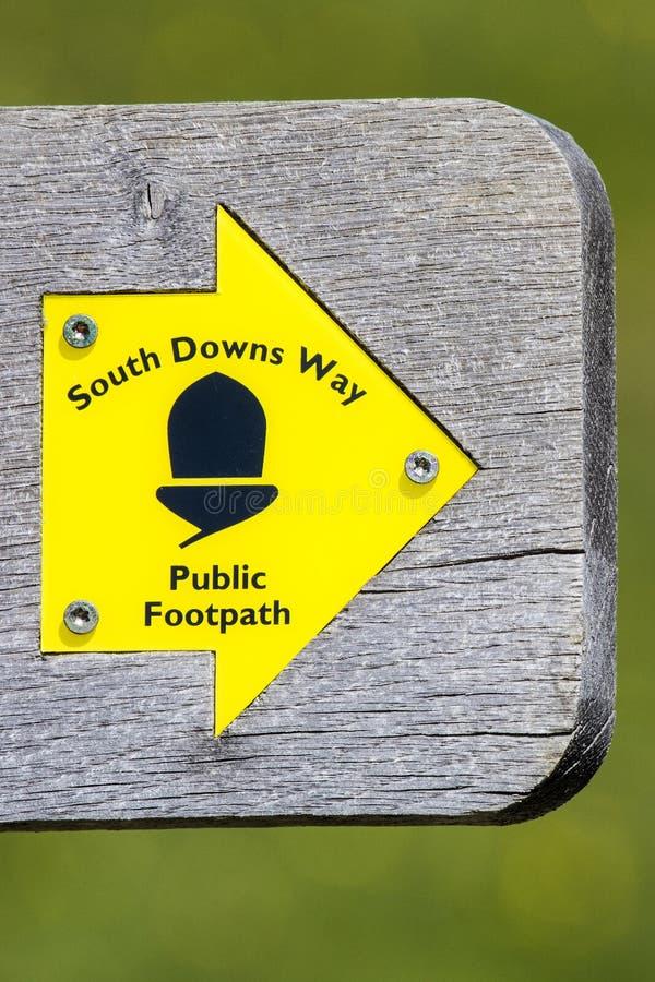 Ο νότος κατεβάζει τον τρόπο στο ανατολικό Σάσσεξ, UK στοκ φωτογραφία με δικαίωμα ελεύθερης χρήσης