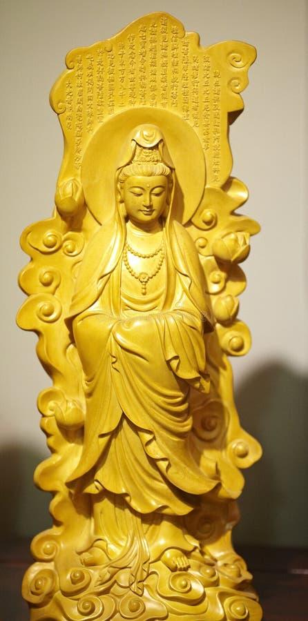 Ο ξύλινος Βούδας στοκ φωτογραφίες