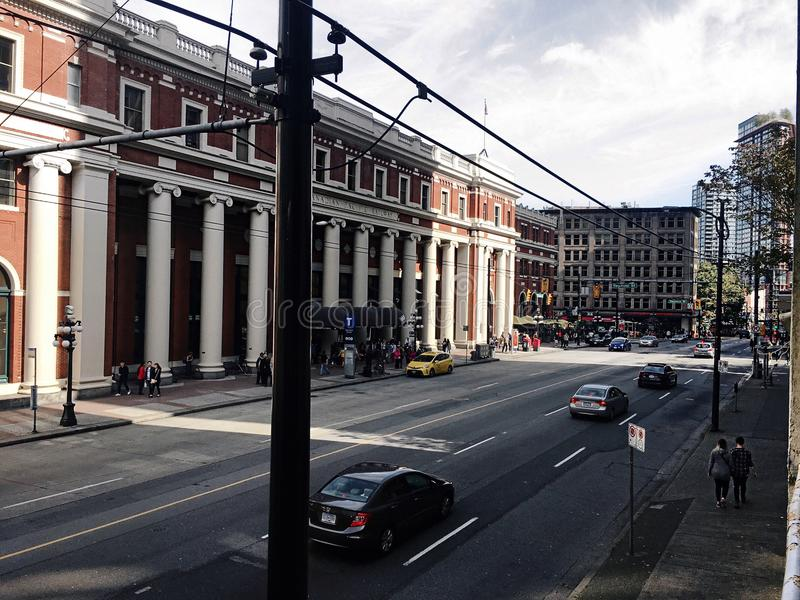 Οδοί του Βανκούβερ στοκ εικόνες με δικαίωμα ελεύθερης χρήσης